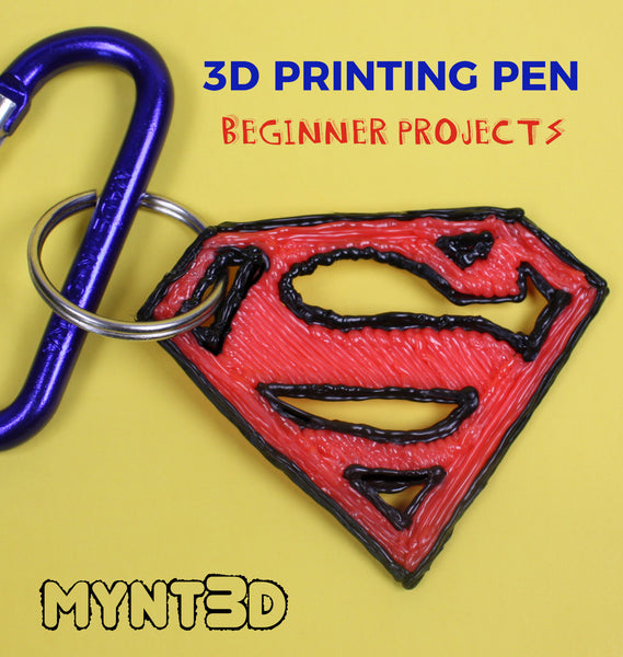 3d printing pen beginner projects with free template stencil and techniques for getting started with a 3D pen | Kids crafts for boys