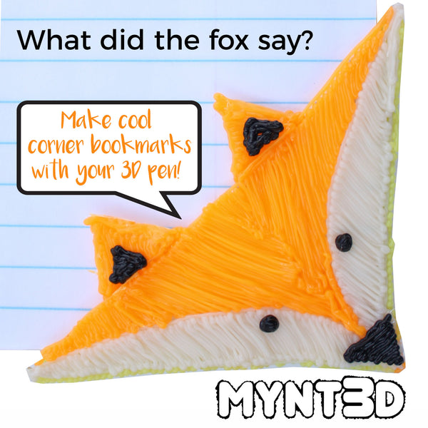 What did the fox say? Make this cute fox kids craft with the MYNT3D printing pen and the free printable template stencil which you can instantly download off the projects page of the website