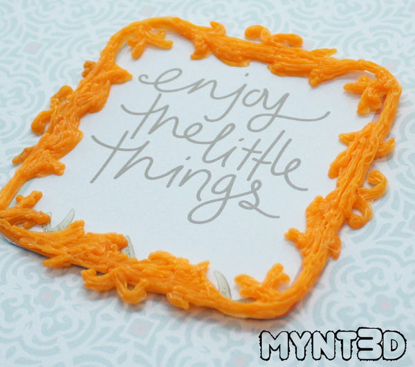 Create scrapbooking frames, decorations and embellishments with the MYNT3D printing pen | customize for any holiday or occasion to celebrate your treasured photos and keepsakes