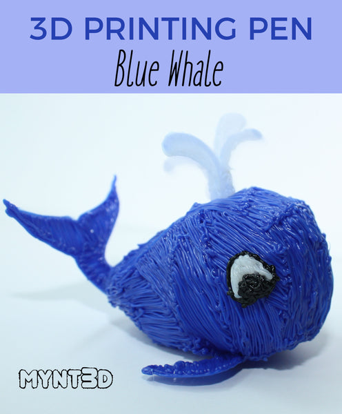Summer kids craft 3D printing pen whale project from MYNT3D