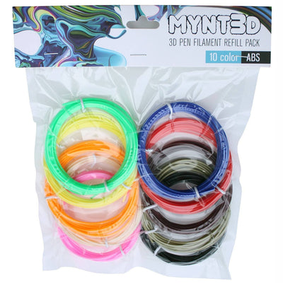 ABS Filament Refill Pack (10 color, 3m each)