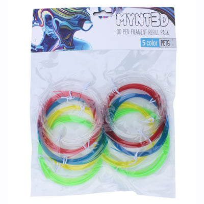 PETG Filament Refill Pack (5 colors, 6m each)
