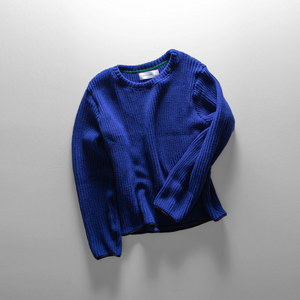 Knitted Sweater // Royal Blue