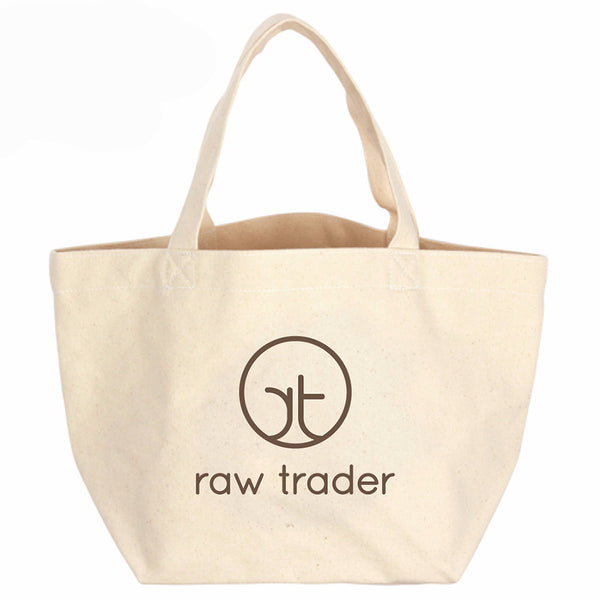 Small Canvas Tote Bag - Raw Trader Cafe