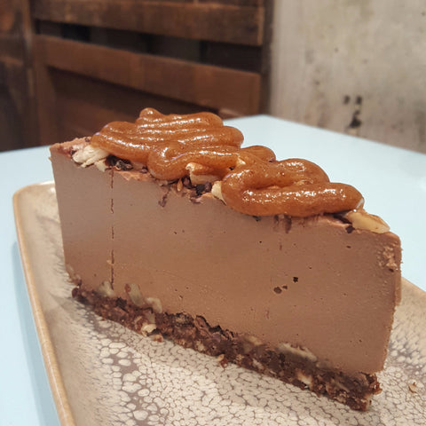 Chocolate, Pecan and Caramel - Raw Trader Cafe