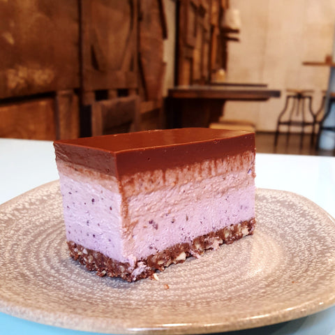 Chocolate and Mixed Berry Mousse Cake - Raw Trader Cafe