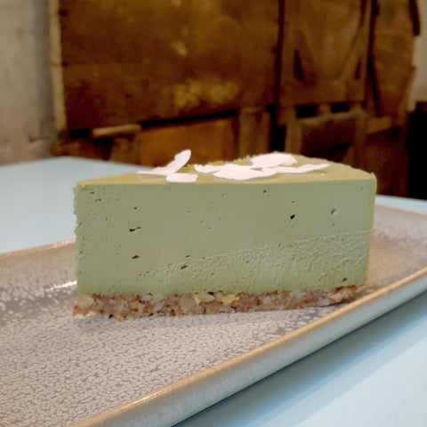 Green Tea (Matcha) Cheesecake - Raw Trader Cafe
