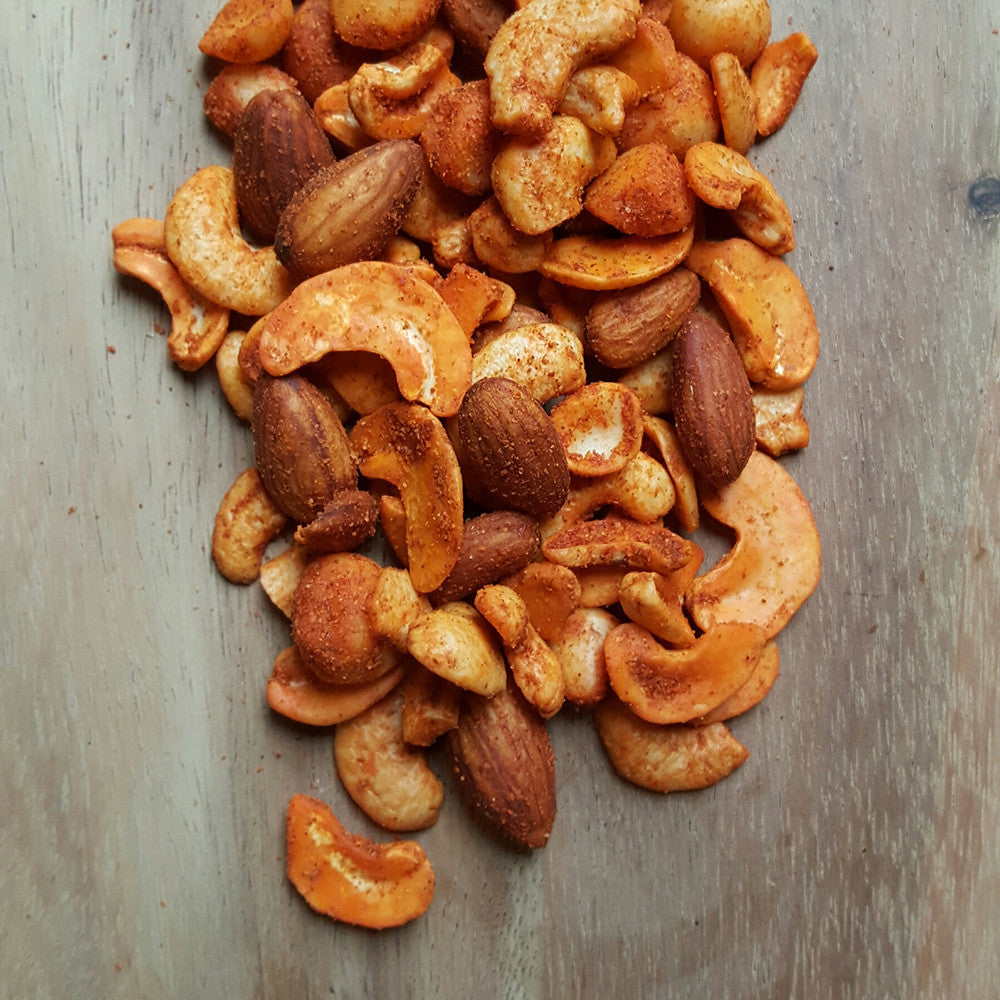 Hot and Spicy Nuts - Raw Trader Cafe