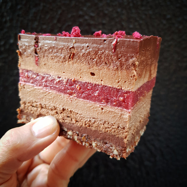 Dark Chocolate Raspberry Layer Cake