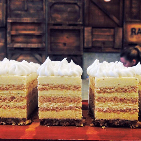 Lemon Meringue Layer Cake - Raw Trader Cafe