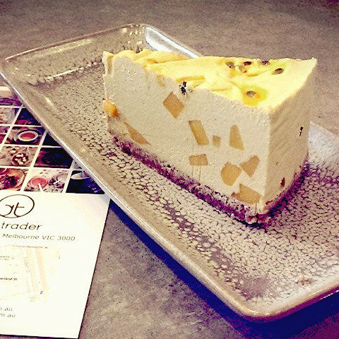 Mango Passionfruit Cheesecake - Raw Trader Cafe