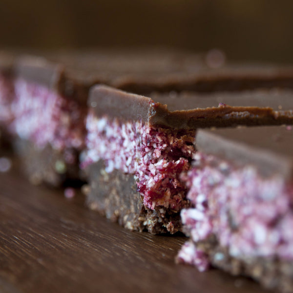 Cherry Ripe Slice Cake - Raw Trader Cafe