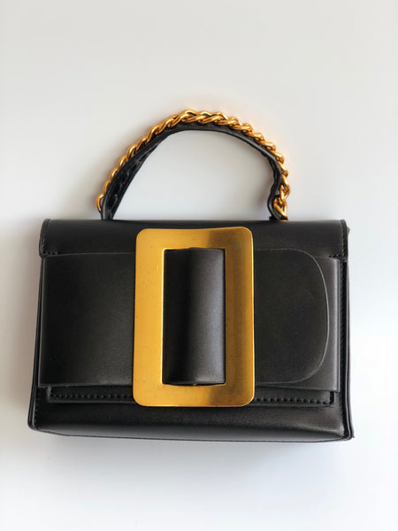 Metal Buckle Hand Bag