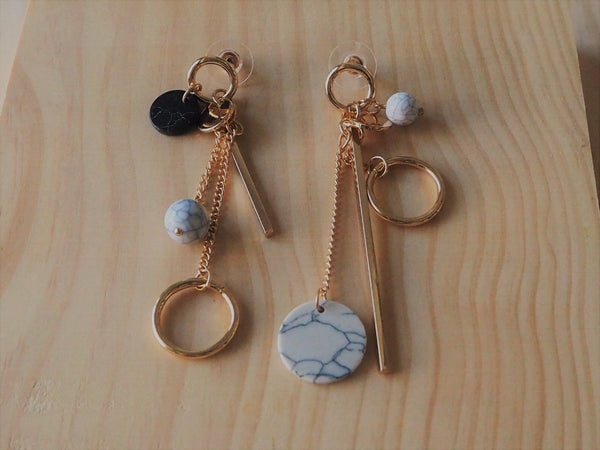 Marble Stone Dangling Earrings