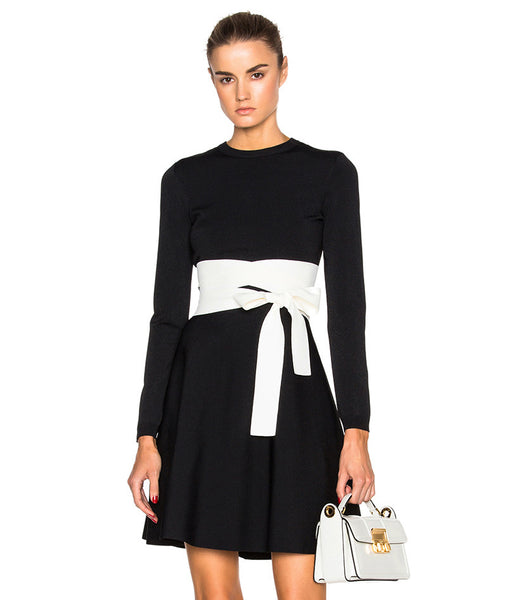 Chrisa WaistBand Black Dress