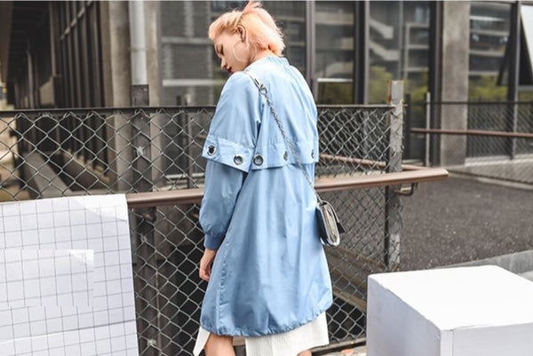 Pastel Blue Lightweight Punk Coat