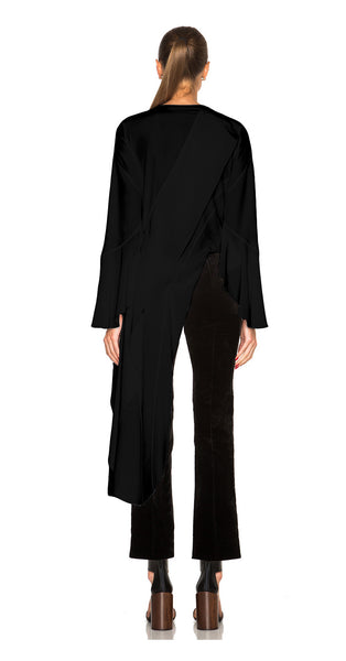 Katerina Long Dress Blouse (Black)