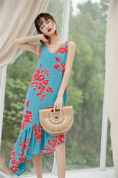 Reversible Front Flap Floral Dress