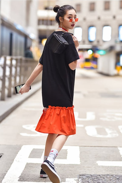 Metallica Orange Hem Dress