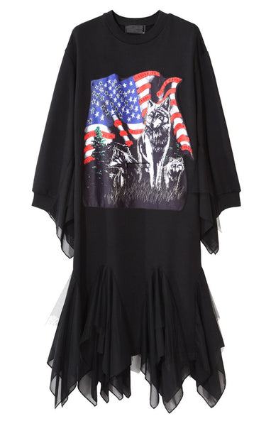 Raycen Rock Chiffon Sweat Dress