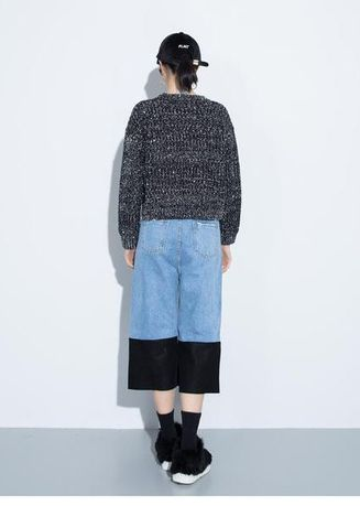 Apollia 2 Tone Denim Culottes