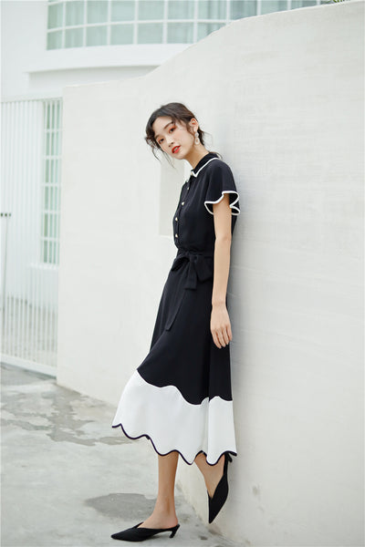 Vintage Black & White Dress