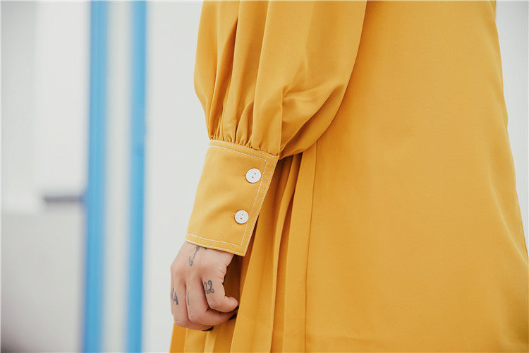 Mustard Yellow Irregular Dress