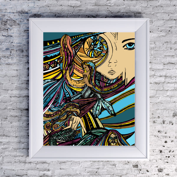 Mermaids - Art Print