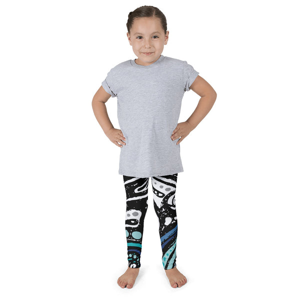 Kaia Blue/Black - Kid's Leggings