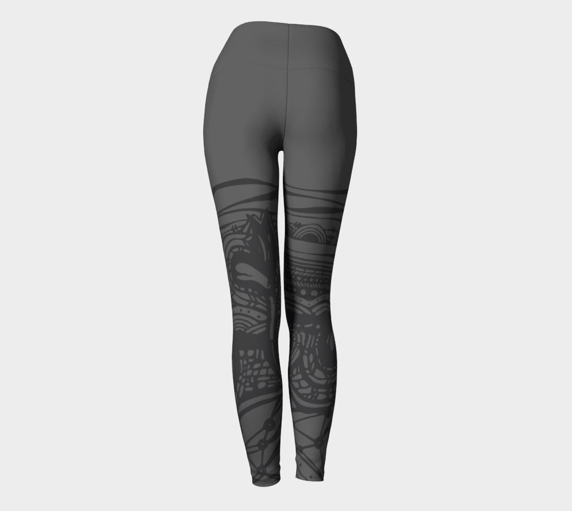 Life Charcoal - Yoga Leggings