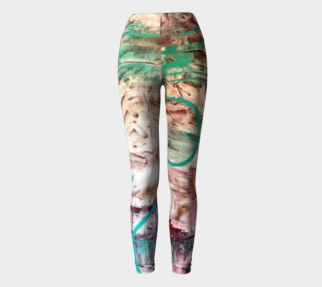 Paths Painting Yoga Leggings