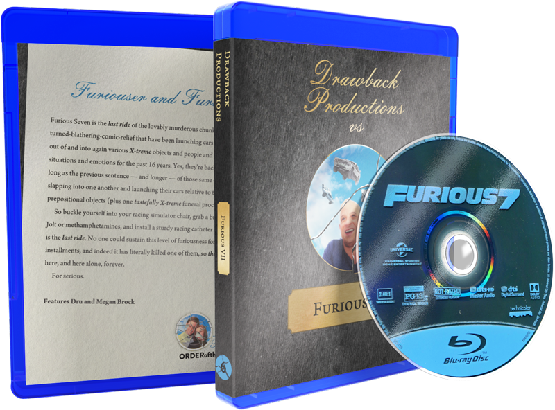 Furious 7 Blu-ray w/ Custom Case