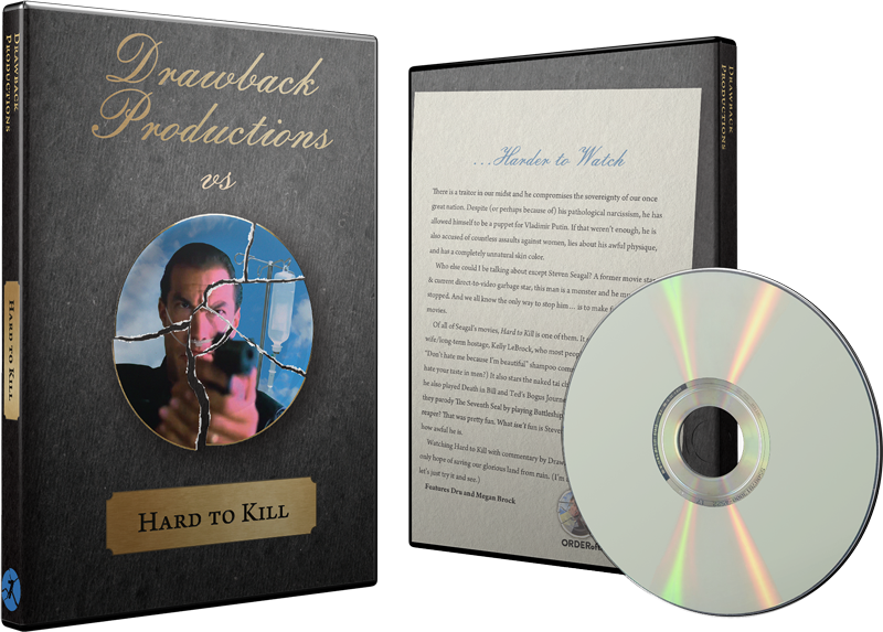 Hard to Kill DVD w/ Custom Case
