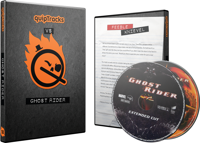 Ghost Rider (Theatrical & Extended) DVDs w/ Custom Case