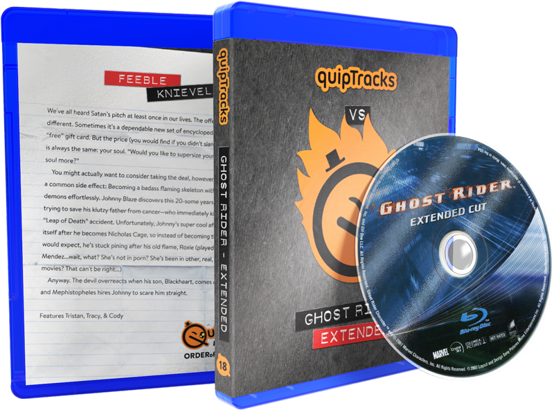 Ghost Rider (Extended) Blu-ray w/ Custom Case