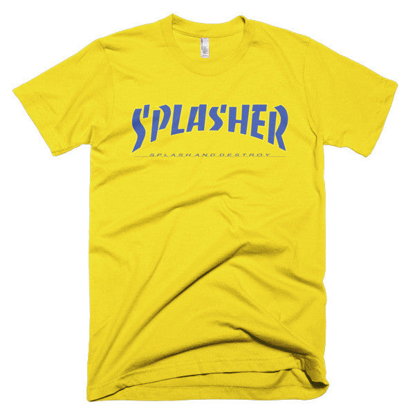 Splasher in Blue Font