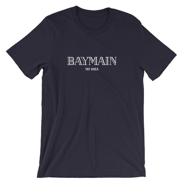 From the BayMain Black color way Unisex short sleeve t-shirt