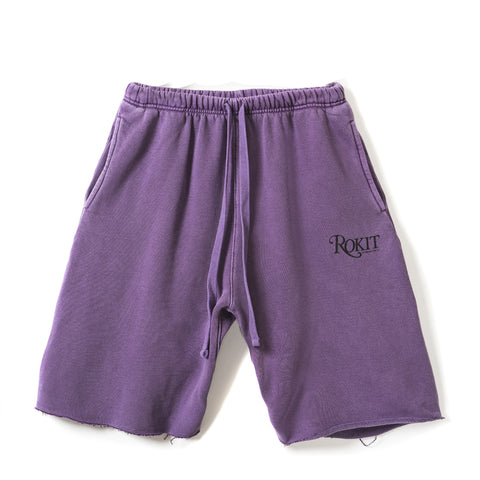 MEMOIR Sweatshort - Washed Purple - FRONT