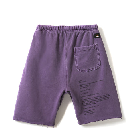 MEMOIR Sweatshort - Washed Purple - Back