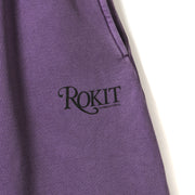 MEMOIR Sweatshort - Washed Purple - Front Detail Pocket