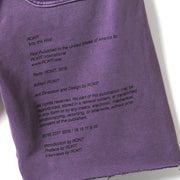 MEMOIR Sweatshort - Washed Purple - Back Leg Detail