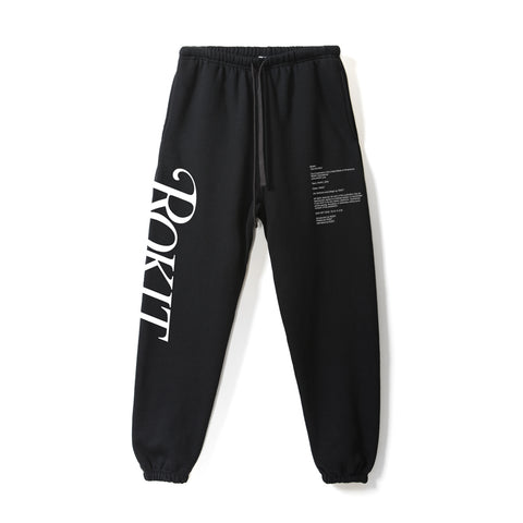 ROKIT black sweatpants with Wild logo - Front