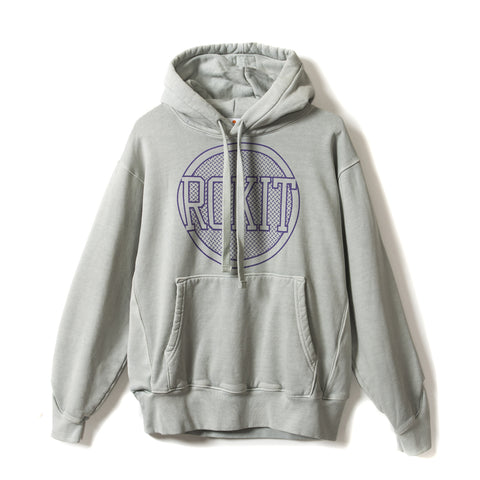 CONSTRUCT Pullover Hoodie - Washed Grey - Front