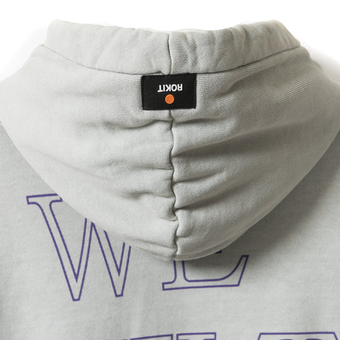 CONSTRUCT Pullover Hoodie - Washed Grey - Hood Detail
