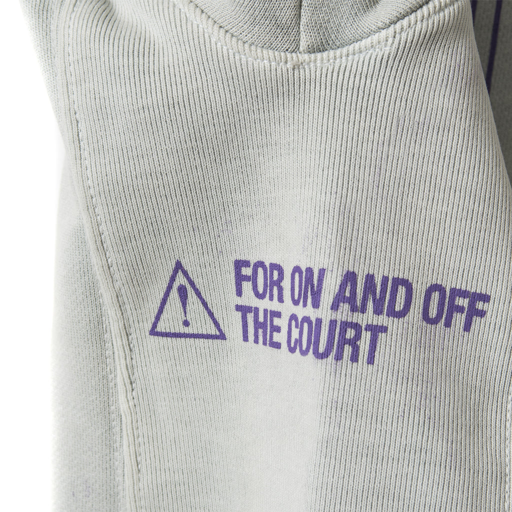 CONSTRUCT Pullover Hoodie - Washed Grey - Detail