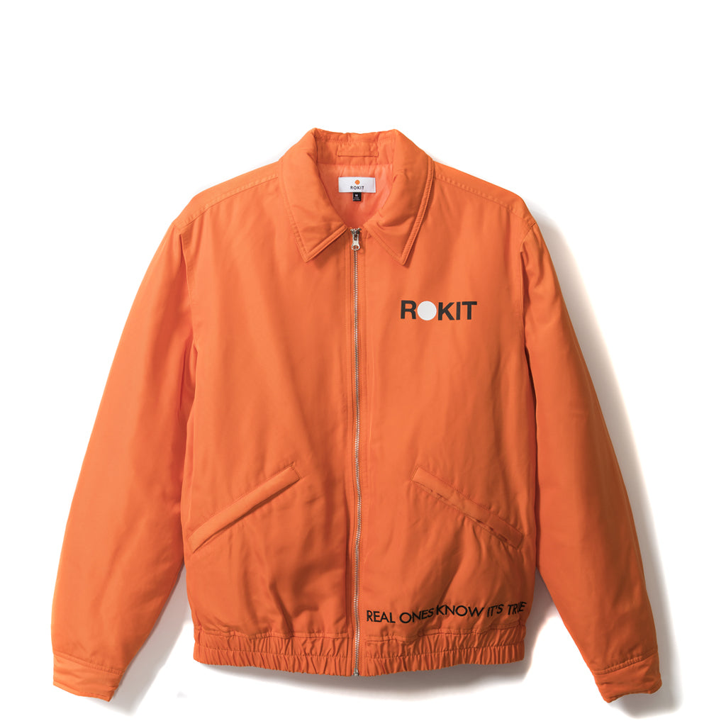 Rokit Stand Up Bomber Jacket - Orange