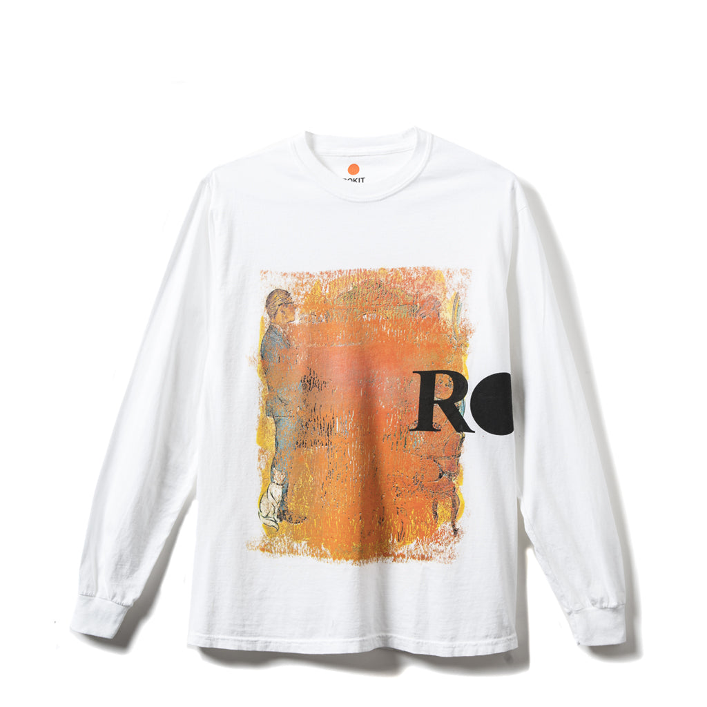 Rokit Coverup Long Sleeve Tee Shirt - White