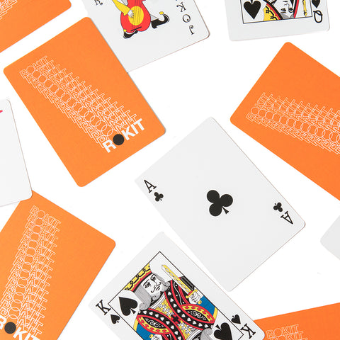 Rokit Standard Playing Cards - Orange
