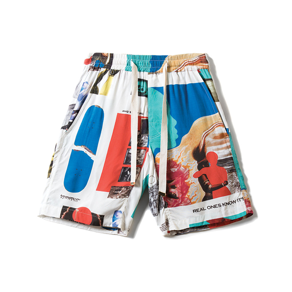 Rokit DNA Woven Shorts - White