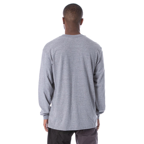 Oblique LS Tee - Grey